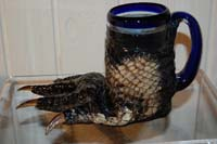 alligator, bone, gator, skute, skin, hide, rug, mug,foot,glass
