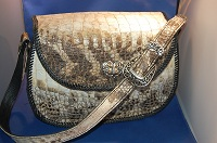 Large Natural Alligator Leather purse