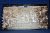 Kelli Ladies Clutch Wallet Alligator Leather