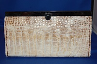 Alligator Leather Ladies Clutch Wallet