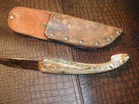 cow horn, knife, knived, bone, custom, handmade, alligator, gator