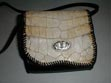 purse, handbag, alligator, cow, horn, ladies